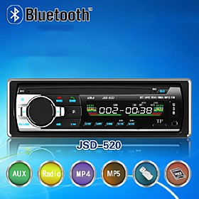 520 Hands-free Multifunction Autoradio Car Radio Bluetooth Audio Stereo In Dash FM Aux Input Receiver USB Disk SD Card
