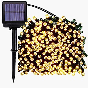 22M 200LED Solar LED String Light Outdoor String Lights 8 Function Fairy Lights Outdoor Waterproof Garden Lawn Courtyard Christmas Decoration Light