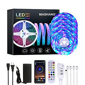 20M LED Strip Lights RGB LED Light Strip Music Sync 1200LEDs  LED Strip 2835 SMD Color Changing LED Strip Light Bluetooth Controller and 24 Key Remote LED Ligh