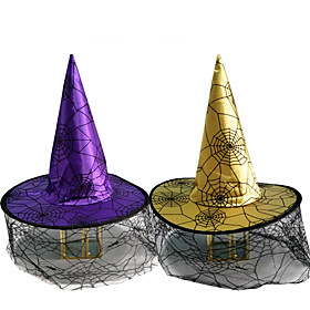 Halloween Party Toys Halloween Witch Hat 2 pcs Spiders Masquerade Nylon Kid's Adults Trick or Treat Halloween Party Favors Supplies