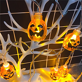 Halloween Party Toys LED Lighting String Lights 2 pcs Pumpkin Plastic Kid's Adults Trick or Treat Halloween Party Favors Supplies