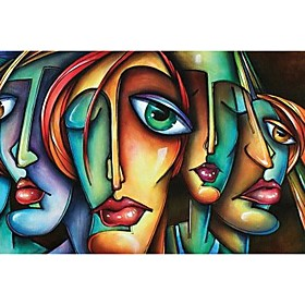 100% Hand painted Women Portrait Oil Painting Home Decor For Canvas Decorative Wall Art Pictures Cuadros For Living Room Bedroom Rolled Without Frame