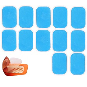 12PCS EMS Trainer Abdominal Gel Stickers Pad for Electric muscle stimulator ABS fitness Weight loss Body Slimming Myostimulator