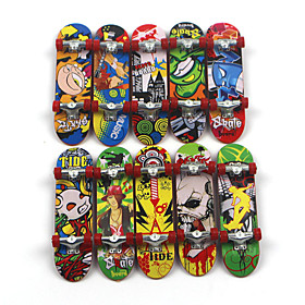 12 pcs Finger skateboards Mini fingerboards Finger Toys Plastic Alloy Office Desk Toys Cool Matte Surface Kid's Teen Unisex Party Favors  for Kid's Gifts