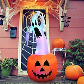 Halloween Party Toys Halloween Inflatables Ghost Pumpkin LED Lights with Tethers and Stakes Polyester Kid's Adults Trick or Treat Halloween Party Favors Suppli