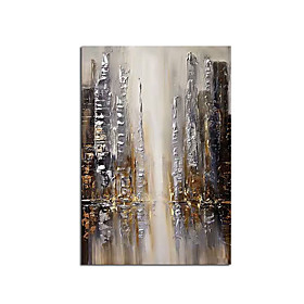 2020 New Handmade Abstract City and People Oil Painting Canvas Wall Art Paint Home Decor Home Decoration Wall No Frame Rolled Without Frame