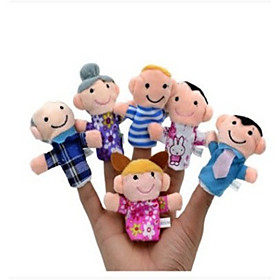 6 pcs Finger Toy Finger Puppets Hand Puppets Stuffed Animal Plush Toy Family Novelty Plush Imaginative Play, Stocking, Great Birthday Gifts Party Favor Supplie