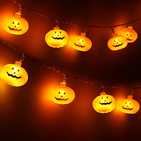 Halloween Party Toys LED Lighting String Lights Pumpkin Plastic Kid's Adults Trick or Treat Halloween Party Favors Supplies