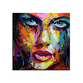 100% Hand painted Large Size Hand Painted Abstract Figure Oil Painting On Canvas Woman Face Wall Pictures For Living Room Bedroom Home Decor Rolled Without Fra