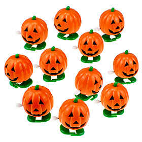 Halloween Party Toys Wind-up Toy Trick or Treat 12 pcs Pumpkin Party Favors ABS Kid's Adults Trick or Treat Halloween Party Favors Supplies