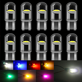 10 PCS T10 LED W5W LED WY5W 168 501 2825 COB LED Car License Plate Light Wedge Parking Light Side Door Bulb Instrument Lamp Auto