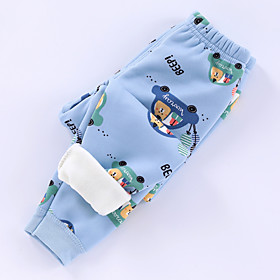 Kids Boys' Basic Graphic Letter Print Pants Blue