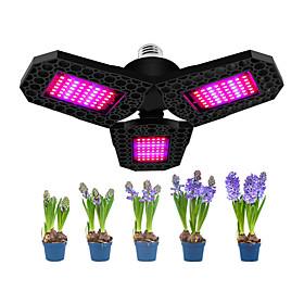 1pcs 144 LEDs Three Leaf For Hydroponics Backyard Greenhouse Nursery Foldable Waterproof Houseplants Plant Grow Light Garden Seeding