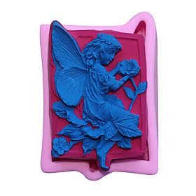 3D Angel Baby Silicone Molds Cupcake Topper Fondant Mold Baby Birthday Cake Decorating Tools Candy Clay Chocolate Gumpaste Mould
