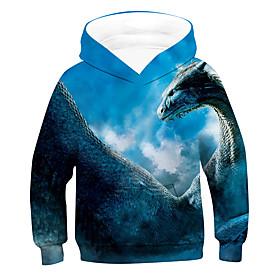 Kids Boys' Active Basic Fantastic Beasts 3D Long Sleeve Hoodie  Sweatshirt Blue