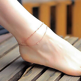 Anklet Boho Women's Body Jewelry For Holiday Beach Alloy Heart Gold