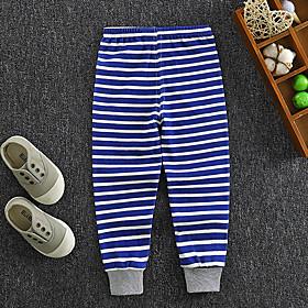Kids Boys' Basic Striped Print Pants Blue