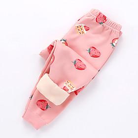 Kids Girls' Basic Graphic Fruit Print Pants Blushing Pink