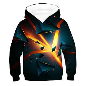 Kids Boys' Active Basic 3D Long Sleeve Hoodie  Sweatshirt Orange