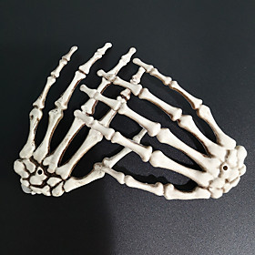 Halloween Party Toys Ornaments Halloween Skeleton Hands Skull Skeleton Plastic Kid's Adults Trick or Treat Halloween Party Favors Supplies