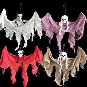 1pc Halloween Decorations Halloween Entertaining / Decorative Objects Holiday Decorations Party Garden Horror Hanging Ghost Pendant Skull Head Bar Ktv Wedding