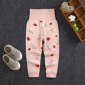 Kids Girls' Basic Print Fruit Print Pants Blushing Pink