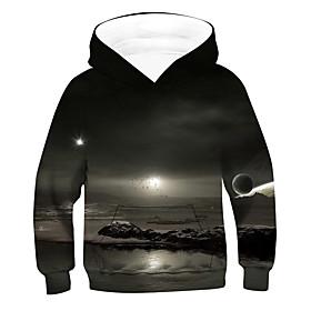 Kids Boys' Active Basic 3D Long Sleeve Hoodie  Sweatshirt Black