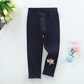 Kids Girls' Basic Solid Colored Pants Blue