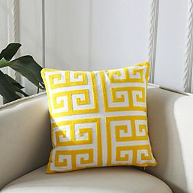 1 PC Geometry Embroidery Home Office Pillow Case Cover Living Room Bedroom Sofa Cushion Cover