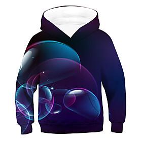Kids Boys' Active Basic 3D Long Sleeve Hoodie  Sweatshirt Purple