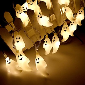 Halloween Lights Décor LED String Light 3M 20LEDs Cute Ghost Halloween Skull Decorative Lights Halloween Supplies Toys Garland Outdoor Indoor Decoration Light