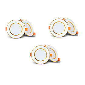 6pcs 4pcs Driverless LED Recessed Downlight 2-in-1 3W LED Ceiling Spot light Bedroom Indoor Lighting AC85-265V hole size 50-60mm