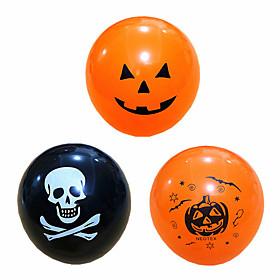 1 package (100pcs) Halloween black orange latex balloon pumpkin skeleton Halloween party decoration helium balloon children's toy bar party decoration