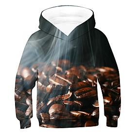 Kids Boys' Active Basic 3D Long Sleeve Hoodie  Sweatshirt Brown
