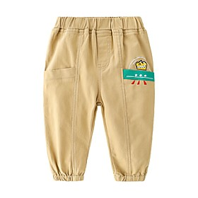 Kids Boys' Basic Solid Colored Print Pants Army Green