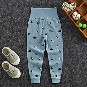Kids Boys' Basic Letter Print Pants Blue