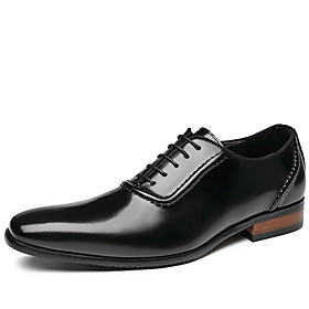 Men's Oxfords Business Daily Walking Shoes Leather Waterproof Non-slipping Booties / Ankle Boots Wine / Black / Brown Fall