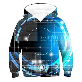 Kids Boys' Active Basic 3D Long Sleeve Hoodie  Sweatshirt Blue