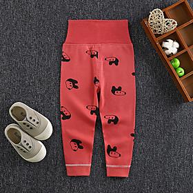 Kids Girls' Basic Print Print Pants Red