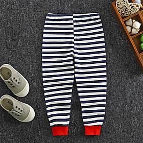 Kids Boys' Basic Striped Print Pants Blushing Pink