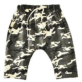 Kids Toddler Boys' Basic Print Drawstring Shorts Army Green