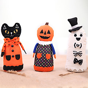 Halloween Party Toys Halloween Fabric Doll 3 pcs Skull Skeleton Ghost Bat Iron Cotton Kid's Adults Trick or Treat Halloween Party Favors Supplies