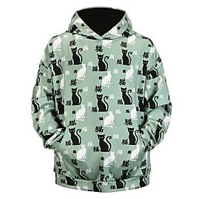 Men's Daily Pullover Hoodie Sweatshirt 3D Graphic Animal Oversized Hooded Basic Hoodies Sweatshirts  Long Sleeve Navy Blue
