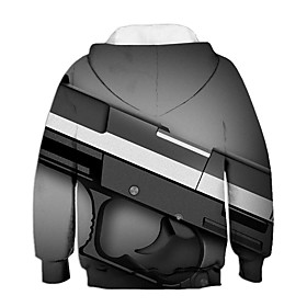Kids Boys' Active Basic 3D Long Sleeve Hoodie  Sweatshirt Gray