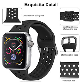 Watch Band for Apple Watch Series 5/4/3/2/1 Apple Sport Band Silicone Wrist Strap What's in the box:Watch Band1; Type:Sport Band; Band Material:Silicone; For:Apple; Listing Date:09/18/2020; SmartWatch Compatible Model:Apple Watch Series 5/4/3/2/1