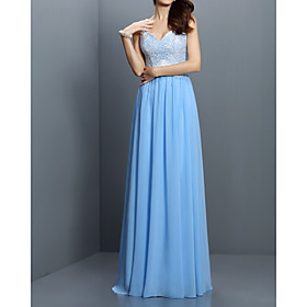 A-Line Beautiful Back Sexy Wedding Guest Formal Evening Dress V Neck Sleeveless Floor Length Chiffon with Pleats 2020