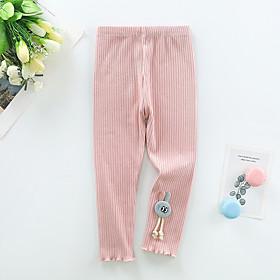 Kids Girls' Basic Solid Colored Pants Blushing Pink