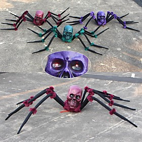 Halloween Party Toys Halloween Spider Plush Spider Prank Joking Props Ghost Head Simulation Party Favors Plastic Kid's Adults Trick or Treat Halloween Party Fa