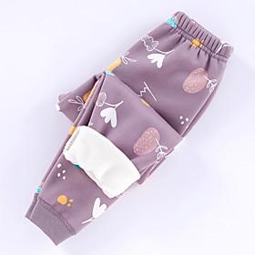 Kids Girls' Basic Graphic Print Pants Purple