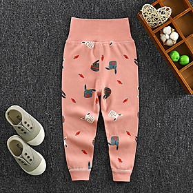 Kids Girls' Basic Rabbit Print Print Pants Blushing Pink